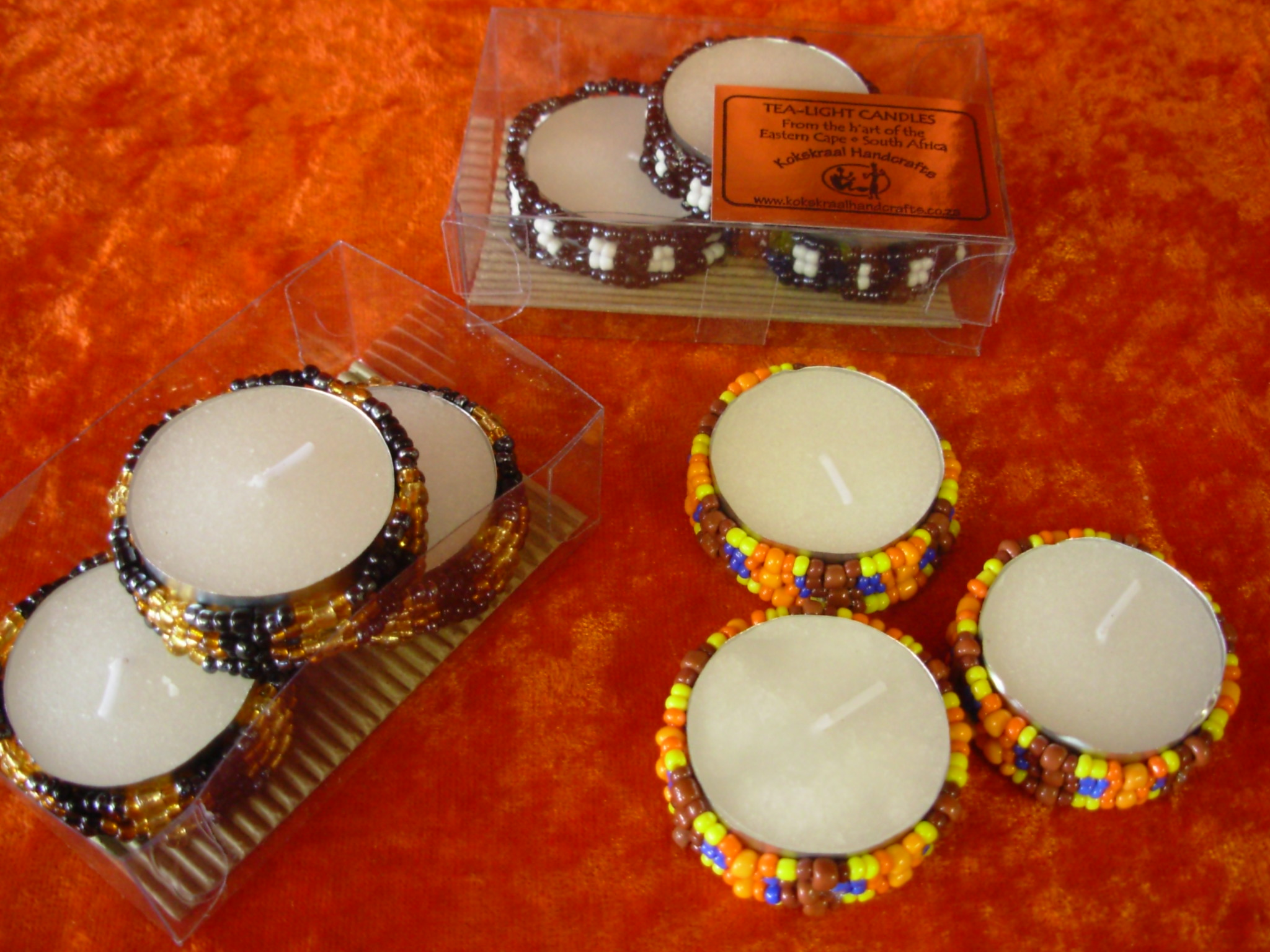 Beaded Tea-light Candles (3)